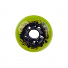 72mm 85A Outdoor Roller Skates Brake Pulley Wheel - Green + Black
