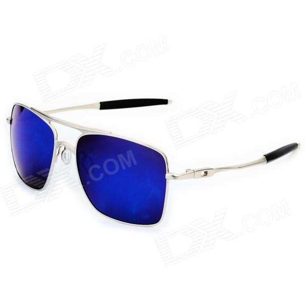 OREKA 4050 Men's Anti-glare Resin Lens Sunglasses - Silver + Black