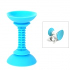 Dual Suction Cups Design Creative Silicone Stand Holder Support for Iphone / Ipad - Blue