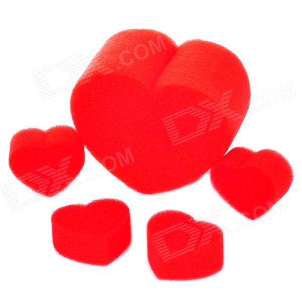 6975 Heart Style Sponge Magic / Trick Set - Red