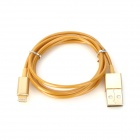 USB to 8-Pin Lightning Sync Data / Charging Cable for iPhone 5 / iPad 4 / Mini - Yellow