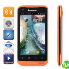 "Lenovo A660 Android 4.0 WCDMA Smartphone w/ 4.0"" Capacitive Screen, Wi-Fi and GPS - Black + Orange"