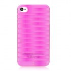 3D Tyre Tire Tread Style Protective Plastic Back Case for Iphone 4 - Purple