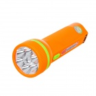 JIAKEDI JK-3158 6-LED 18lm 2-Mode Rechargeable Flashlight - Orange + Green