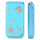 "Z222 GSM Flip Phone w/ 2.2"" LCD, Dual-band, Dual-SIM and FM - Blue + Golden + Pink"