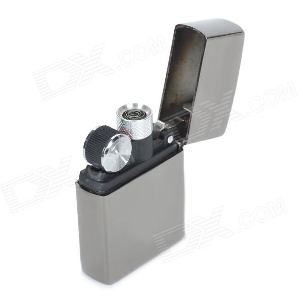 Windproof USB Rechargeable Stainless Steel Shell Lighter - Silver Grey