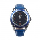 MG.ORKINA P0009:45 Fashionable Men's Analog Quartz Wrist Watch - Blue + Black (1 x LR44)