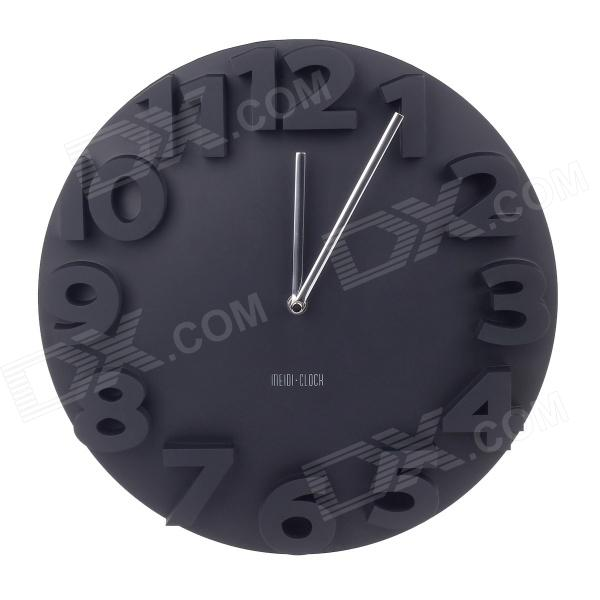 MEIDI Three-Dimensional Digital Wall Clock- Black (1 x AA) creative mathematical symbol wall clock white black 1 x aa