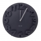 MEIDI Three-Dimensional Digital Wall Clock- Black (1 x AA)