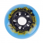 80mm 85A Outdoor Roller Skates Brake Pulley Wheel - Blue + Black + Yellow