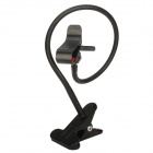 E-091 Universal Iron Flexible Neck Clip Holder Stand for Cellphone - Black