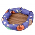 Soft PP Cotton Dog Cat Pet Nest Bed With Sleeping Mat (Size L)