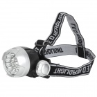 5W 18lm 5600K 17-LED White Light Headlamp w/ Strap - Black + Grey