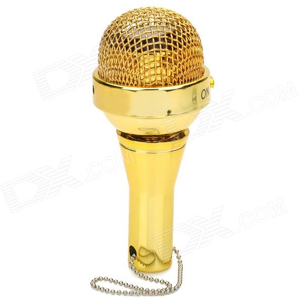 Mini Portable Microphone Shape Speak w/ 3.5mm Plug - Golden mini microphone