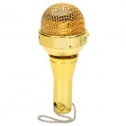 Mini Portable Microphone Shape Speak w/ 3.5mm Plug - Golden