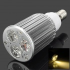 E14 6W 3500K 240lm 3-LED Warm White Light Bulb Lamp - Silber (85 ~ 265V)