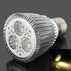 E27 6W 3500K 240lm 3-LED Warm White Spot Light Lamp Bulb - Silver (85~265V)