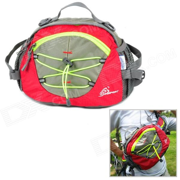 OQSPORT F4 Multifunction Outdoor Nylon Waist / Shoulder Bag - Red + Grey