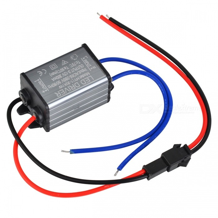 LED-L0203A  IP67 Waterproof 3W External Power Supply Driver - Silver + Black (AC 90~264V)