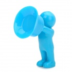 Creative 3D Men Style Silicone Stand Holder for Iphone - Blue