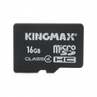 KINGMAX Micro SDHC Flash Memory Card / Card Adapter - Black + White (16GB / Class 4)