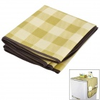 S7026 Multifunction Refrigerator Dust Cover Storage Bag - Light Green + Beige