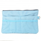 Protective Multifuntion Nylon Bag Pouch for Ipad MINI + Cell Phone + More - Blue