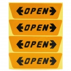 Unique Reflective Car Door Open Warning Sticker - Yellow + Black (4 PCS)