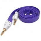 3.5mm Male to 3.5mm Male Flat Audio Connection Cable - Purple + White (98cm)