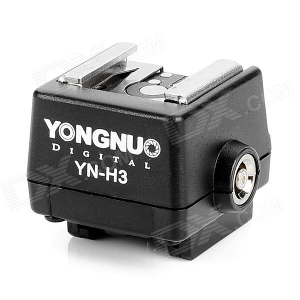 YONGNUO YN-H3 Sony Flash Hot Shoe Adapter - Black remote switch trigger for sony a100 a200 a300 a350 a700 a900