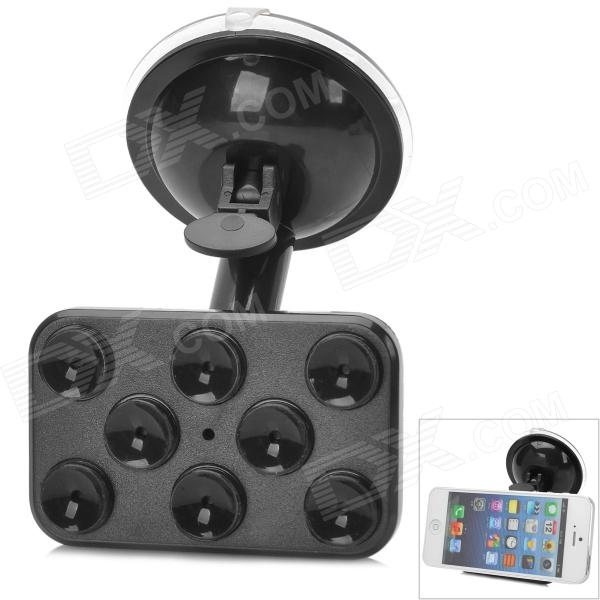 JX 1-020 Compact 360 Degrees Rotation Suction Cup Mount Stand Holder for Cell Phones - Black universal car suction cup mount bracket holder stand for samsung galaxy note 3 more black