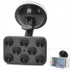 JX 1-020 Compact 360 Degrees Rotation Suction Cup Mount Stand Holder for Cell Phones - Black