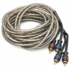 2 RCA Male to Male Audio Signal Cable for Car Speaker - Black (500cm)