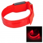 Multifunction Outdoor Bicycle Cycling Safety 3-Mode LED Armband w/ Buckle - Red