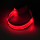 Multifunction Outdoor Bicycle Cycling Safety 3-Mode LED Armband - Red