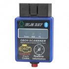OBDII Wireless Bluetooth v1.5 Vehicles Diagnostic Scan Tool - Blue + Black (12V)