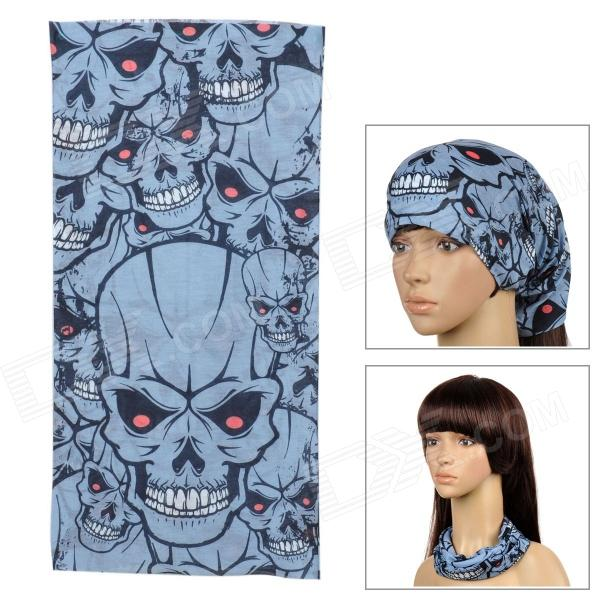 6032618 Multifunction Outdoor Cycling Polyester Seamless Head Scarf for Men - Black + Light Blue brand new for epson original dx4 printhead for roland fj740 540 solvent print head get 2pcs dx4 small damper as gift