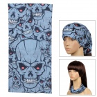 6032618 Multifunction Outdoor Cycling Polyester Seamless Head Scarf for Men - Black + Light Blue