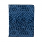 Protective Snake Skin Style PU Leather Smart Case for Ipad 2/ Ipad 3/ Ipad 4 - Blue