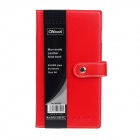 High-Quality Professional Artificial Leather Cover Ruled Notebook - Red