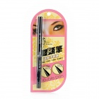 Water Resistant Anti-Shading Double-end Liquid Eyeliner Eyebrow Pencil - Black
