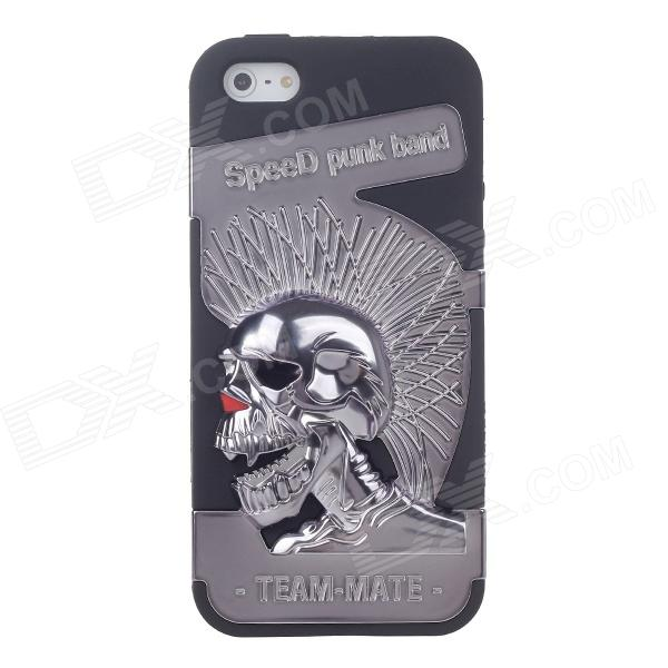 Novelty 3D Skeleton Protective Plastic Back Case for Iphone 5 - Grey plastic standing human skeleton life size for horror hunted house halloween decoration