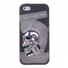 Novelty 3D Skeleton Protective Plastic Back Case for Iphone 5 - Grey