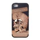 3D Skeleton Protective Plastic Back Case for Iphone 5 - Bronze + Black