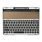 Solar Power Rechargeable Wireless Bluetooth V3.0 82-Key Keyboard for Ipad 2 / 3 / 4 - Black + Silver