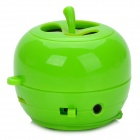 SR-268 Retractable Apple Style USB Rechargeable Bluetooth Speaker w/ Microphone - Green + White