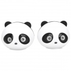 Panda Shape Car Vent Solid Perfume Air Freshener - Black + White (2 PCS)