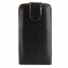 Protective Flip-Open PU Leather Case for Iphone 3g - Black