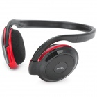 SH-S2 Stereo Headset Headphone w/ FM + TF Card Slot - Black + Red