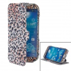 iTOP Leopard Style Protective PU Leather Case w/ Screen Protector for Samsung S4 i9500